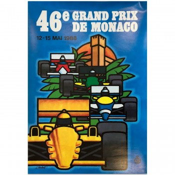 French | Monaco Grand Prix 1988 | Poster