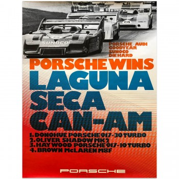 German | Porsche Victory Can-Am Leguna 1973 Poster