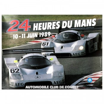 French | Le Mans 24 hours 1989 Poster