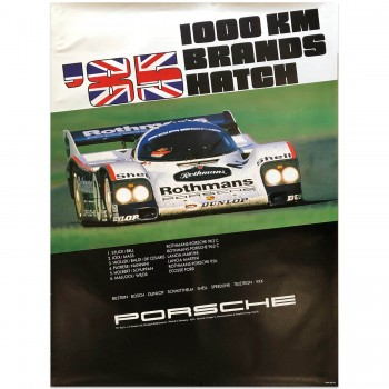 German | Porsche Victory Brands Hatch 1000km 1985 Poster