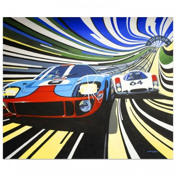 Pedestrian Victory | Ford GT40 | Porsche 908 | Le Mans 24 Hours | Painting
