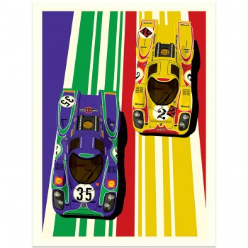 Famous Liveries: Porsche 917 | The Hippy Porsches | Art Print