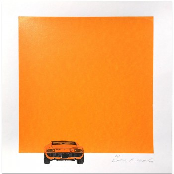 Lamborghini Miura | Orange | Screen Print | Left