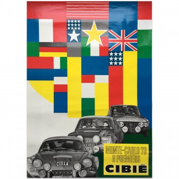 French | Cibie | Monte Carlo Rally 1973 | Poster