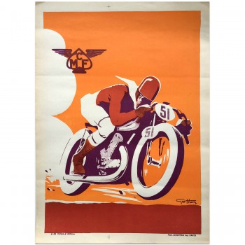 French | Motorcycle Club de France | Poster