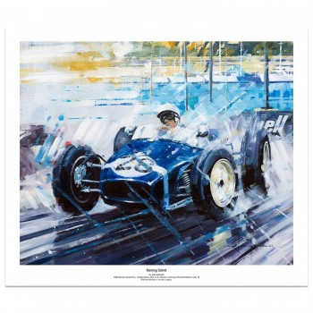 Raining Talent | Stirling Moss | Monaco GP | Lotus 18 | Art Print
