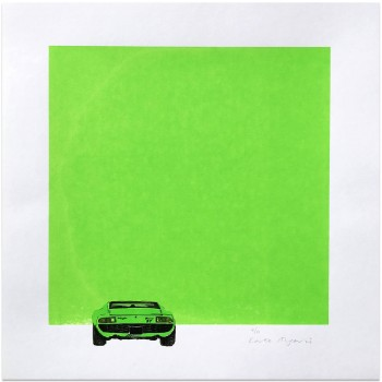 Lamborghini Miura | Green | Screen Print | Left