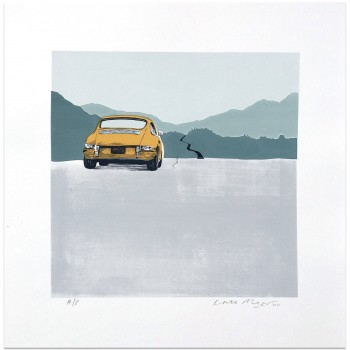Porsche 912 | Dark Ochre | Screen Print | Square