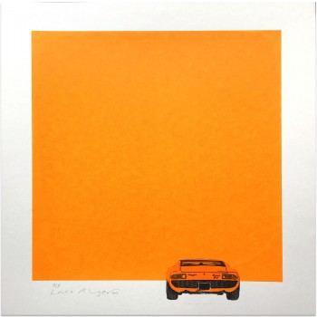 Lamborghini Miura | Orange | Screen Print | Right