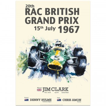 Jim Clark & Lotus | British Grand Prix 1967 Victory Poster