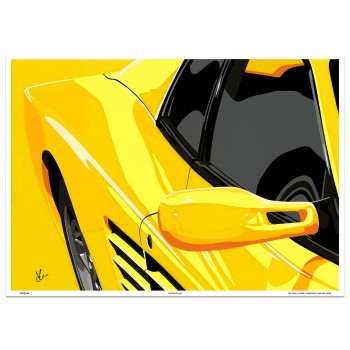 SPEED ICONS: Ferrari Testarossa | Testagiallo | Art Print