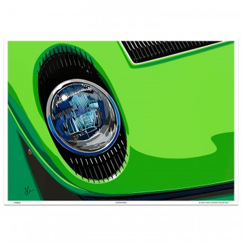 SPEED ICONS: Lamborghini Miura | Lamborgreeni | Art Print