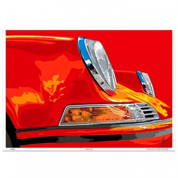 SPEED ICONS: Porsche 911 | Red | Art Print