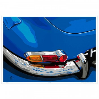 SPEED ICONS: Jaguar E-Type | Blue-Type | Art Print
