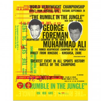 Boxing | Forman v Ali | Rumble in the Jungle Celebration | Art Print | Poster #3