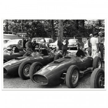 1957 French Grand Prix | Hawthorn Collins Ferrari Pit | Photograph