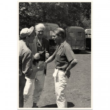 1957 French Grand Prix | Hawthorn & Collins in discussion | Photograph