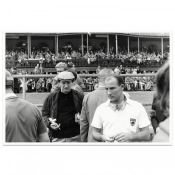 1957 British Grand Prix | Aintree | Stirling Moss before the start | Photograph