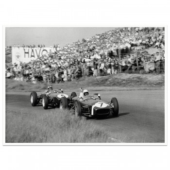 1960 Dutch Grand Prix | Stirling Moss (Lotus) & Alan Stacey (Lotus) | Photograph