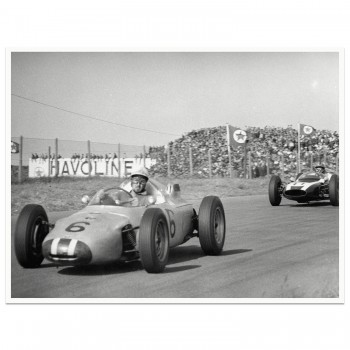 1961 Dutch Grand Prix | Jo Bonnier (Porsche) & Bruce McLaren (Cooper) | Photograph