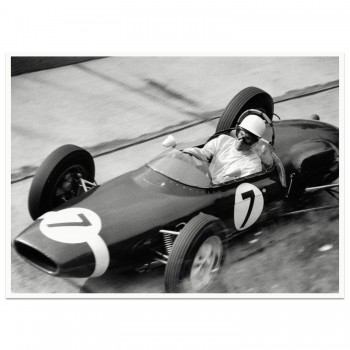 1961 German Grand Prix | Stirling Moss | Lotus 18/21 | Karussell | Photograph