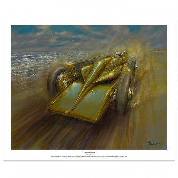 Henry Segrave | 1929 Golden Arrow | Daytona Beach | Art Print