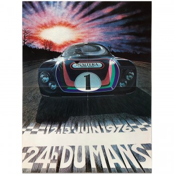 French | Le Mans 24 hours 1976 Poster