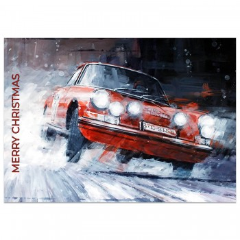 Porsche | Monte Carlo Rally | Christmas Card