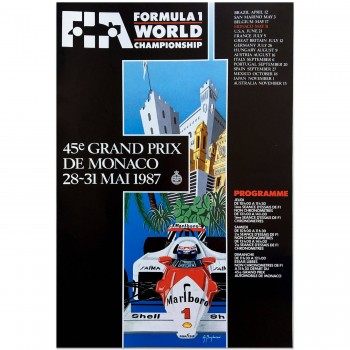 French | Monaco Grand Prix 1987 | Poster (FIA Version)