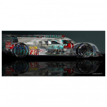 Audi R18 E-Tron Quattro | Side View | Art Print