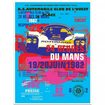 Porsche 956 | 1982 Le Mans 24 Hours Celebration | Art Print | Poster #1