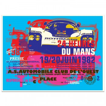 Porsche 956 | 1982 Le Mans 24 Hours Celebration | Art Print | Poster #2