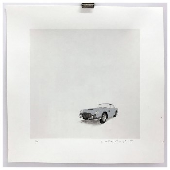 Silver Aston Martin DB5 | Screen Print