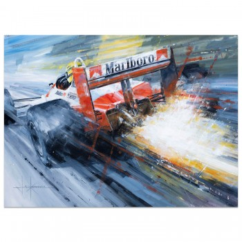 Spark of Genius | Ayrton Senna | McLaren | Artwork