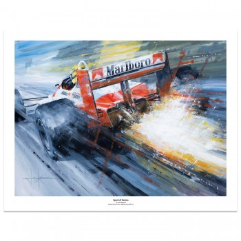 Spark of Genius | Ayrton Senna | McLaren MP-4/4 | Art Print