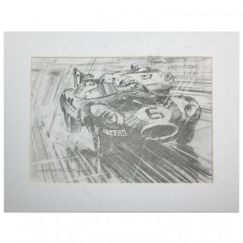 Le Mans 24 Hours 1955 | Hawthorn / Bueb | Jaguar | Artwork