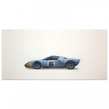 Gulf Ford GT40 | Ickx / Oliver | Le Mans 24 Hours 1969 | Artwork