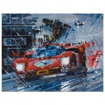 A Thorough Soaking | Ickx & Oliver | Ferrari | Print