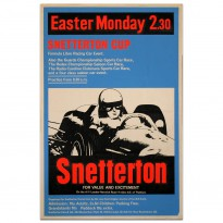 British | Snetterton Cup Easter Monday Race Meeting 1965 Poster