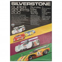 British | Silverstone Supersports 200 Race 1972 Poster