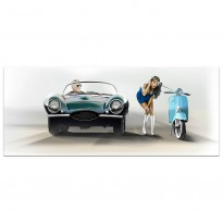 Coventry in Hollywood| Jaguar XKSS | Art Print