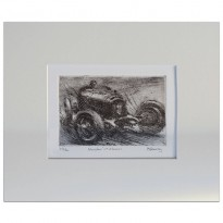 Nuvolari at Monaco - Etching