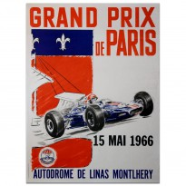 French | Grands Prix de Paris 1966 Linas Montlhery Poster