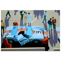 1968 Ford GT40 at Le Mans - Print