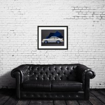 SPEED ICONS: White Porsche Carrera 2.7RS | Original Artwork