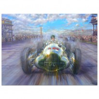 A Famous Victory | Richard Seaman | Mercedes | Grand Prix 1938 | Painting