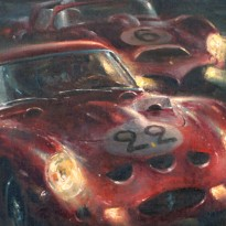 Ferrari Night at Le Mans 24 Hours | Gendebien & Hill | Painting