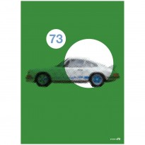1973 Porsche 911 2.7 RS | Emerald Green | Art Print