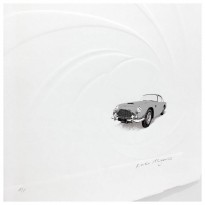 Embossed Aston Martin DB5 | Screen Print