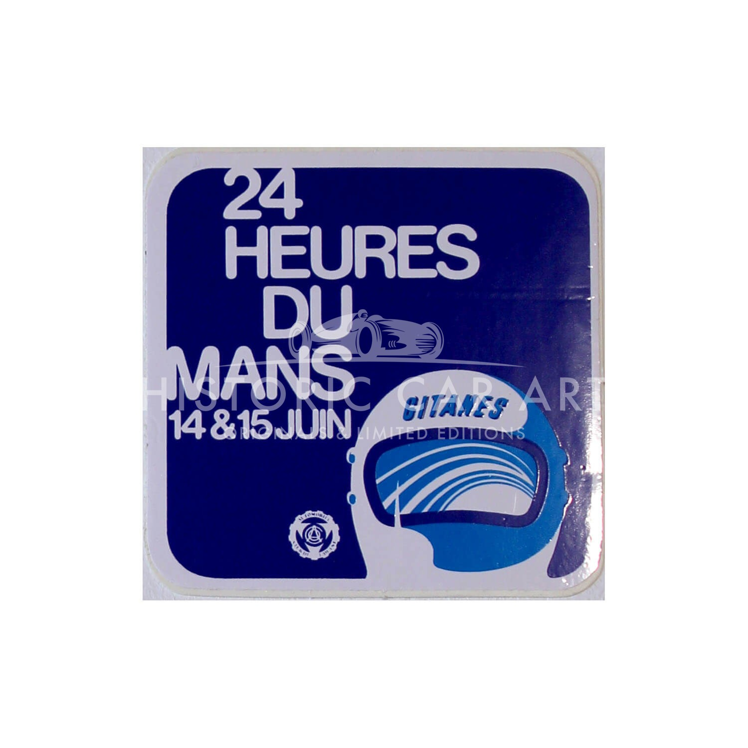 French | Le Mans 24 hours 1975 Sticker